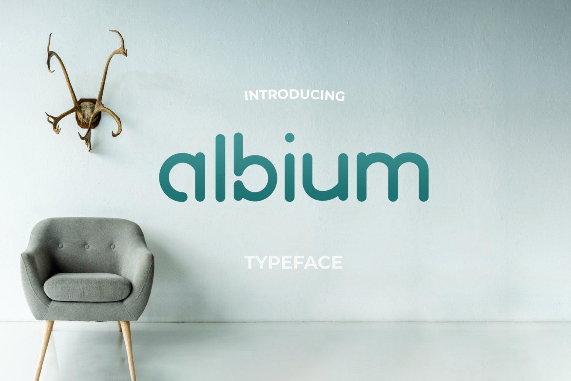 albium font design