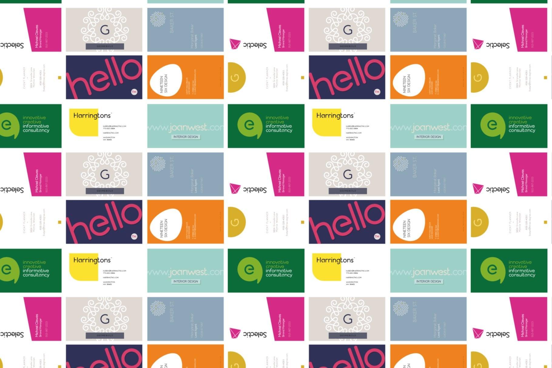business card design using albium
