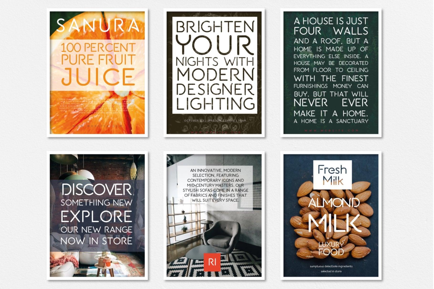 albium font poster design