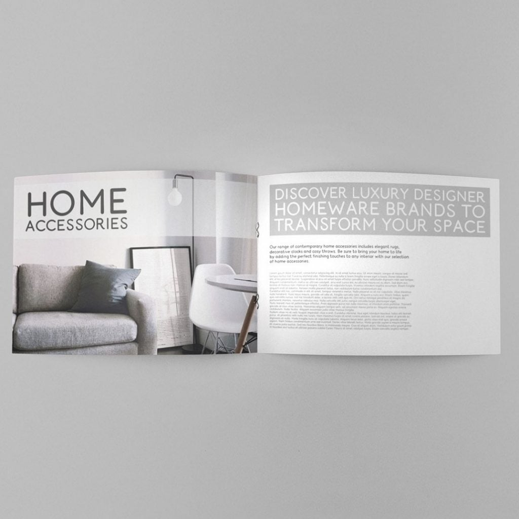 round font in brochure design