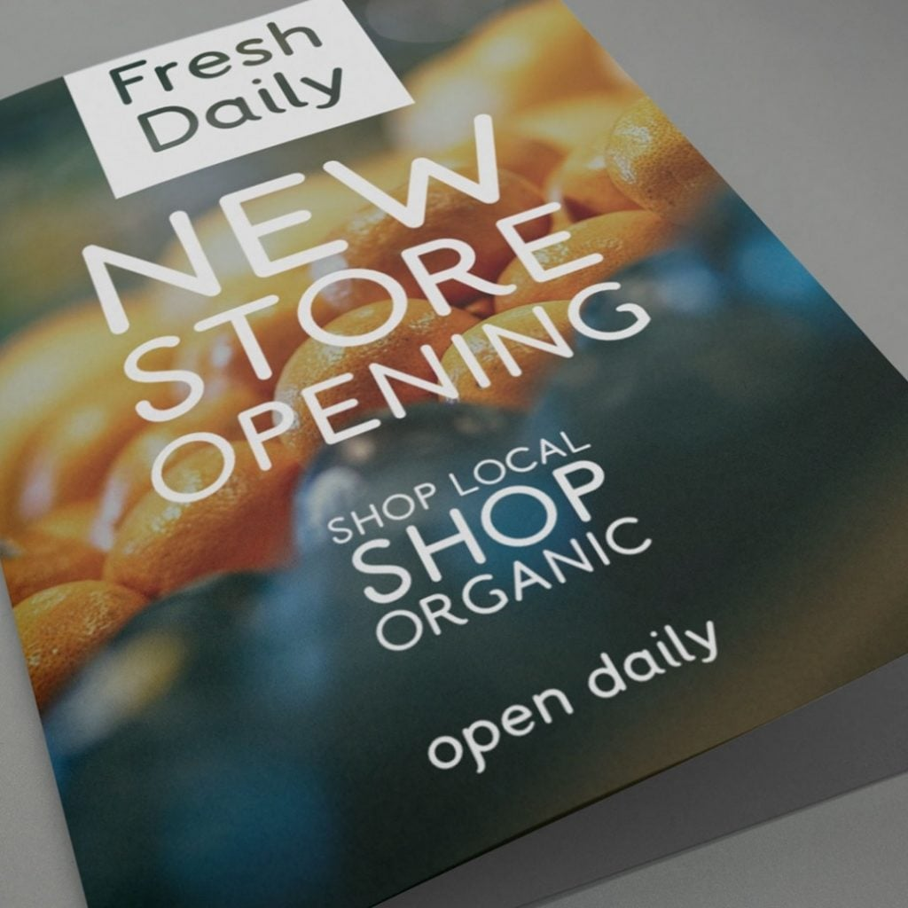 Marketing Material using a rounded font Aneto