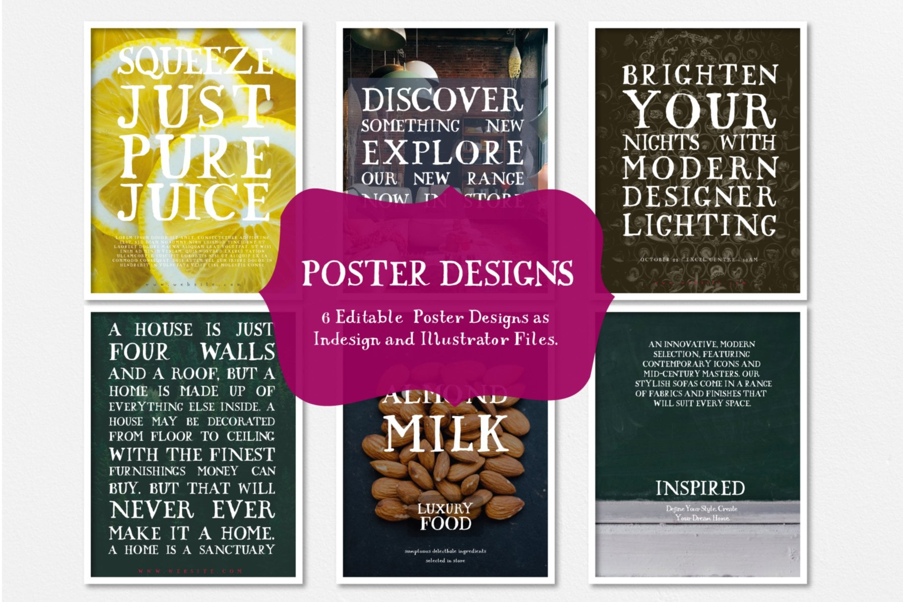 Poster Designs in Baird Font usage