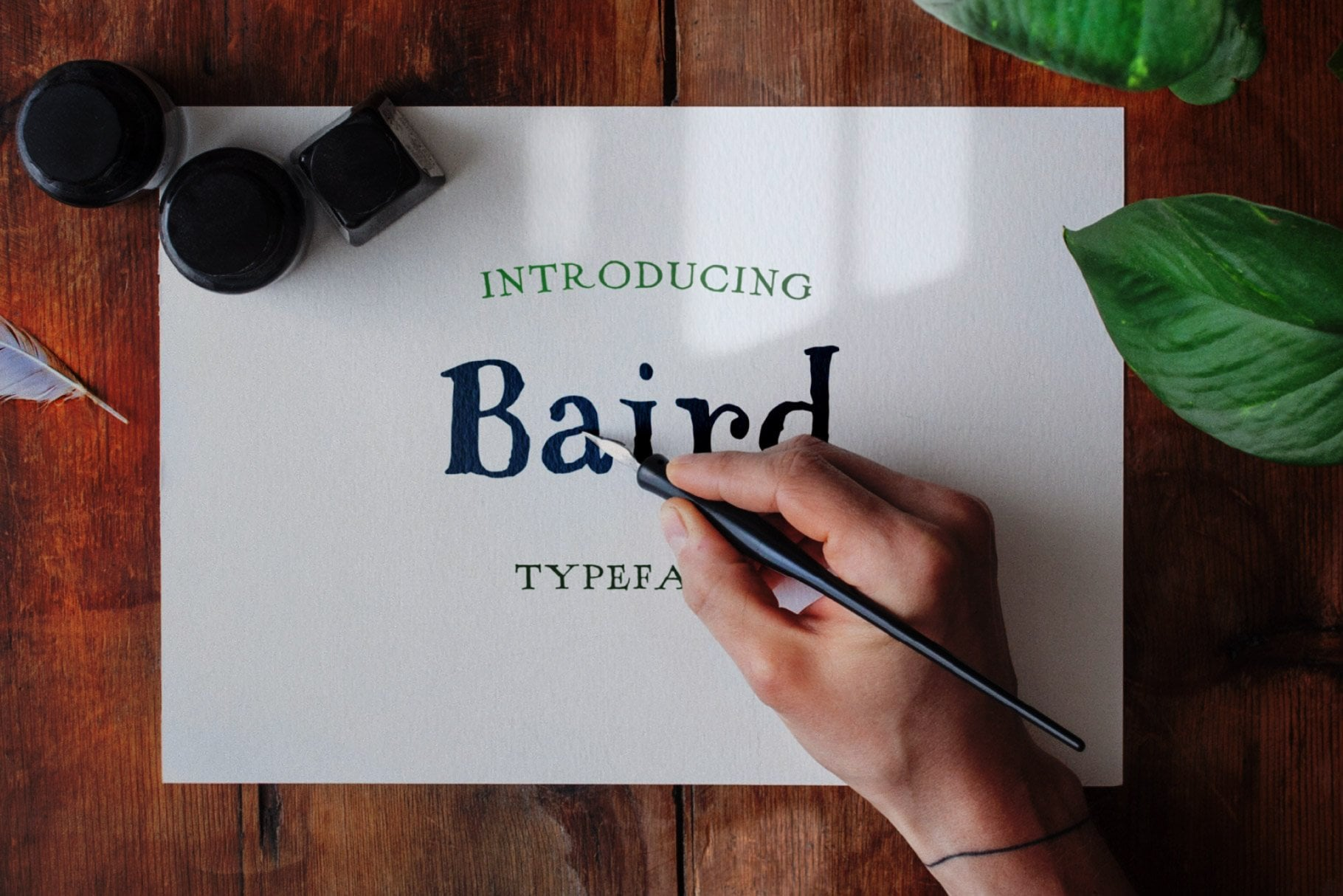 ink font design