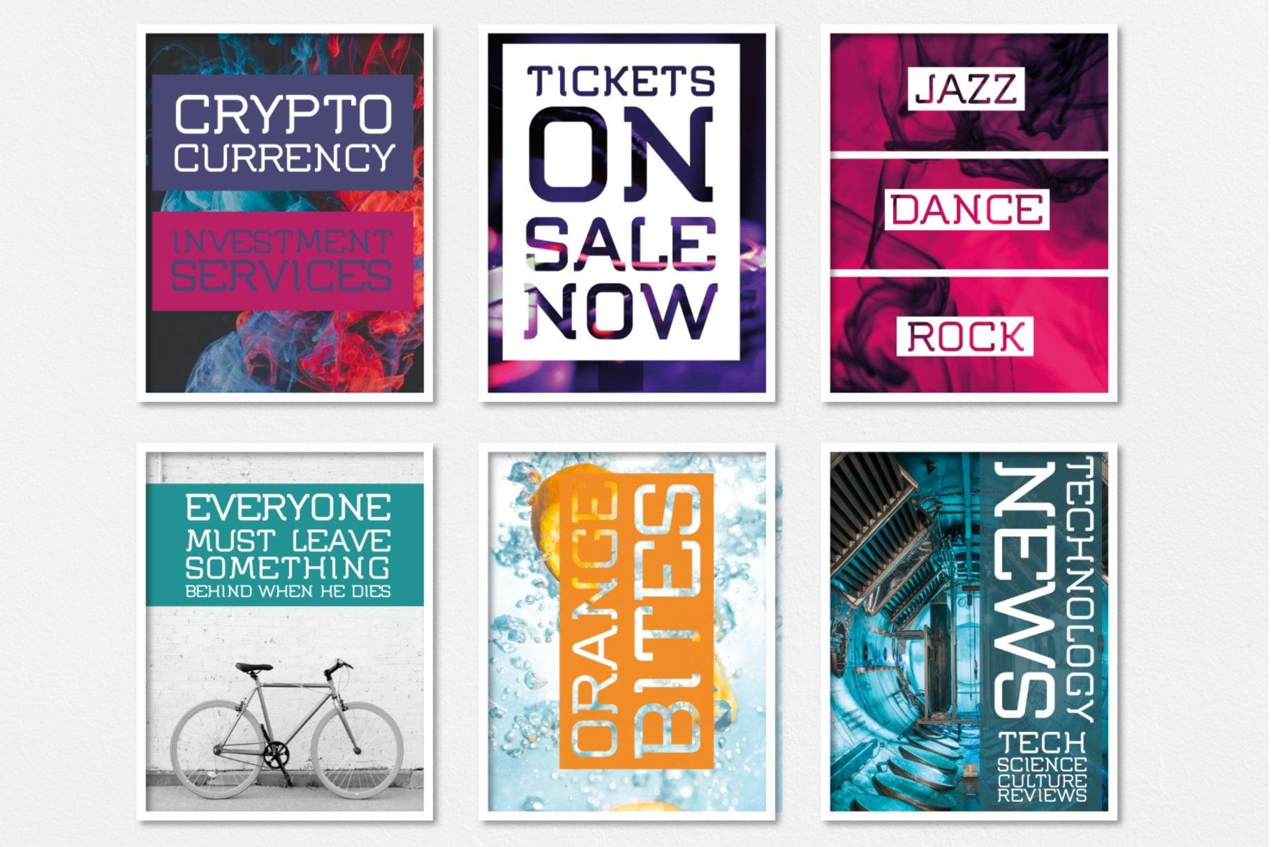 Poster Designs in Flumen Font usage