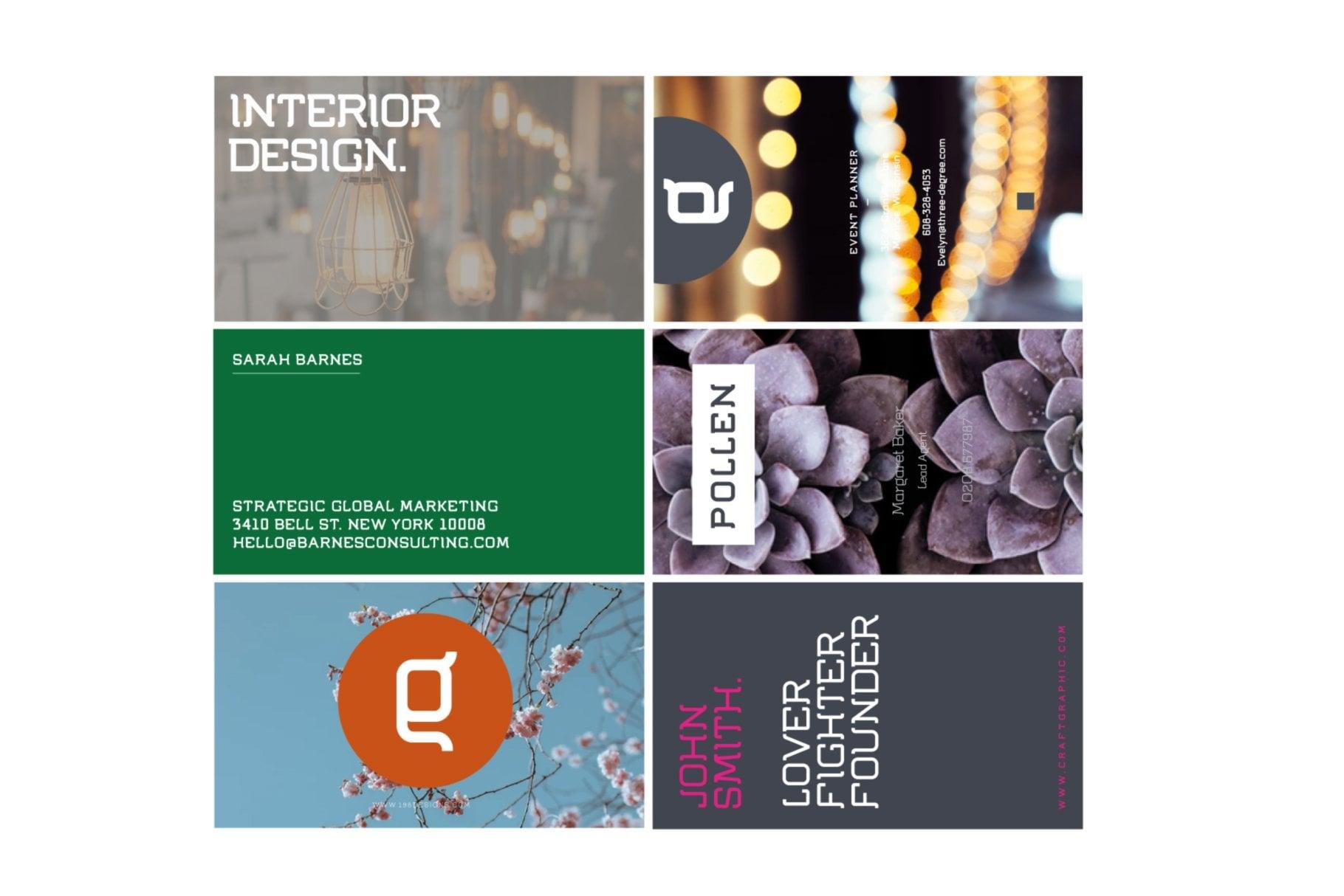 Business Cards Designed in Flumen