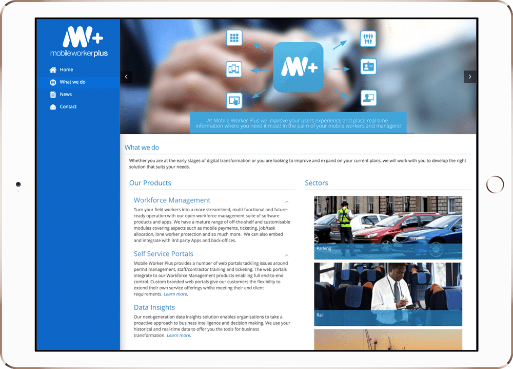 Mobile Worker Website Design