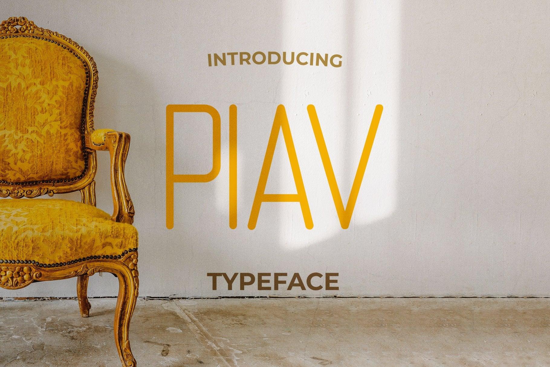 Piav Thin Typeface - Craft Graphic