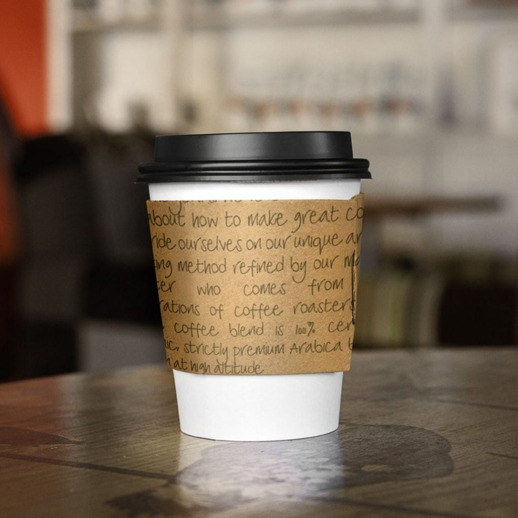 winchester handwriting font used in coffee cup design