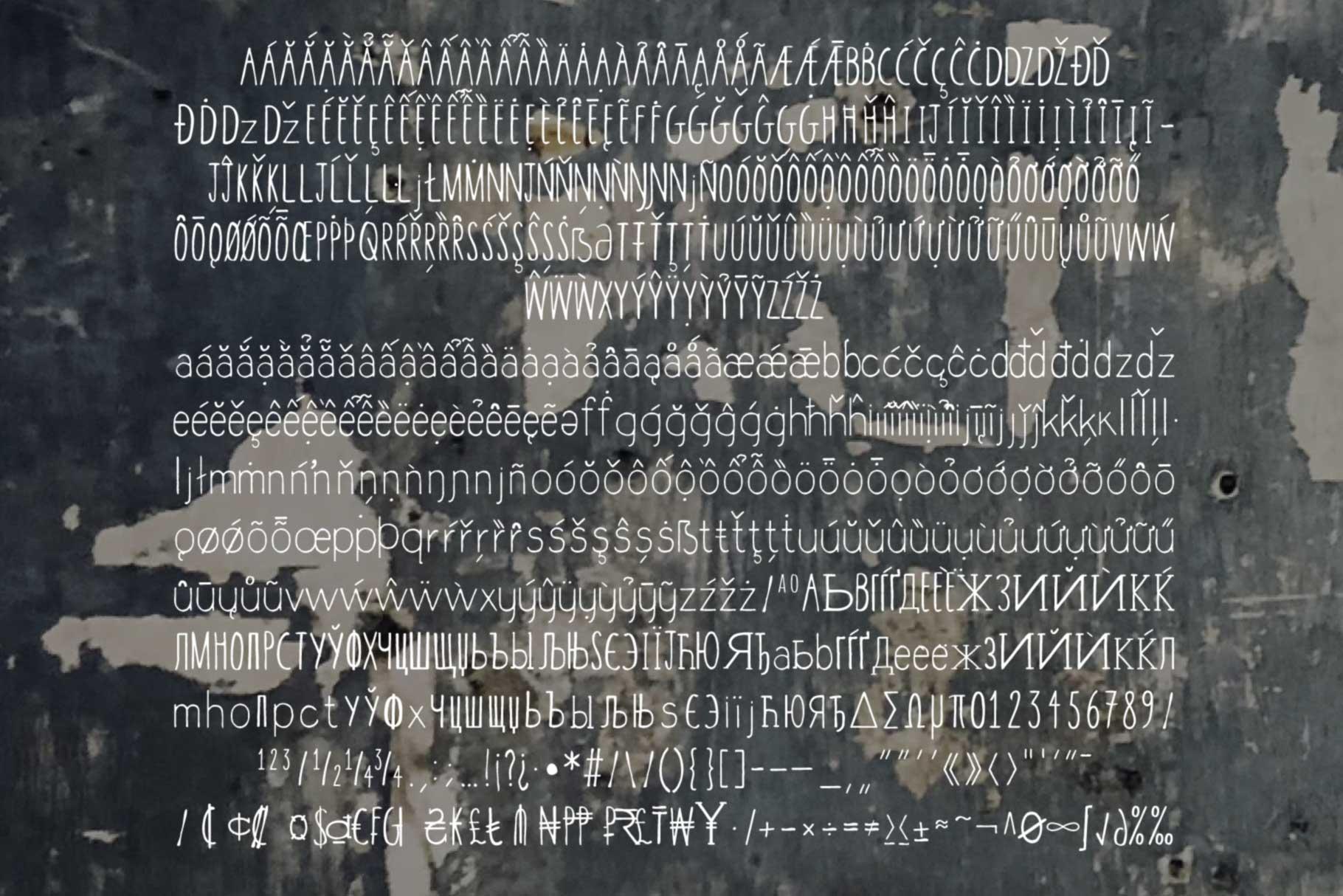 Selva Condensed Font Set