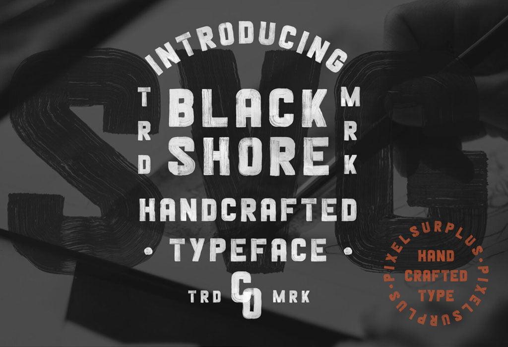 Black Shore Vintage Free Font