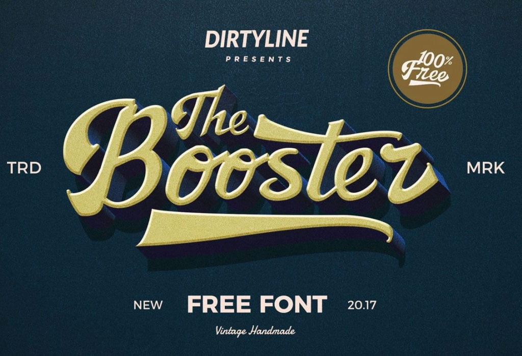 Retro Free Font Booster