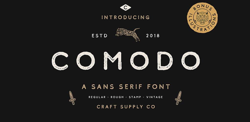 Retro Rough Font Comodo Free
