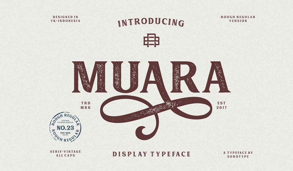 Muara Rough Free Font