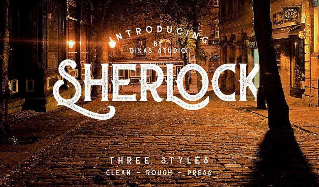 Sherlock Press Retro Free Font